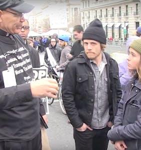 WATCH: Ellen Page confronts antigay preacher outside D.C. protest