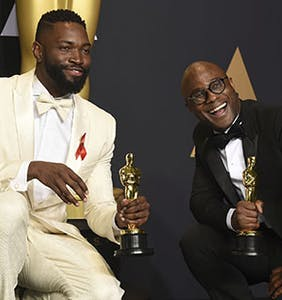 In shocking Oscars twist, 'Moonlight' triumphs in evening dominated by anti-Trump rebukes