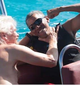 Budding bromance between Barack Obama and Richard Branson is pretty adorable