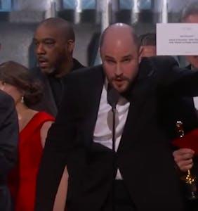 WATCH: 'La La Land' producers accept 'Moonlight's' best picture Oscar in massive flub