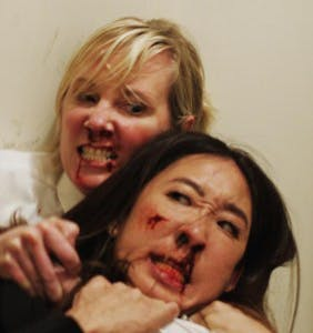 WATCH: Sandra Oh and Anne Heche caught in a bloody Catfight!