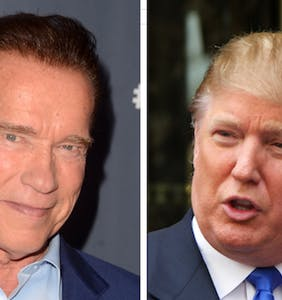 "Arnold Schwarzenegger: Donald Trump is ""in love with me"""