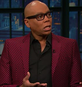 But what does RuPaul REALLY think of Seth Myers' shower bod?