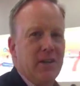 Did Sean Spicer walk into an Apple store… and threaten an Indian-American woman's citizenship?