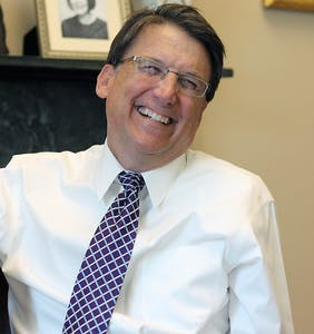 "Unemployed ex-Gov Pat McCrory laughs in the faces of LGBTQ people, says they ""lost the battle"" on HB2"