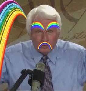 "Bryan Fischer just accused the LGBTQ community of stealing ""the rainbow from God"""