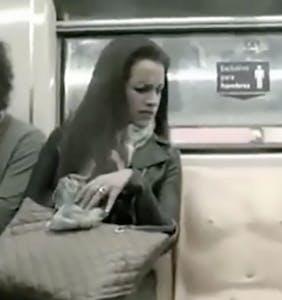 This scandalous subway seat has everyone talking