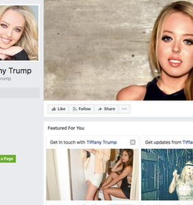 Tiffany Trump and her supporters are being epically trolled on Facebook and they don't even know it