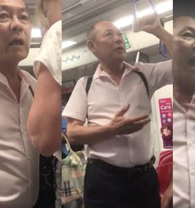 Drunk old man aggressively hits on straight guy on the subway in this truly bizarre video
