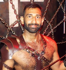 What's Mr. Long Beach Leather's ideal Pride outfit? A jockstrap and harness, of course!