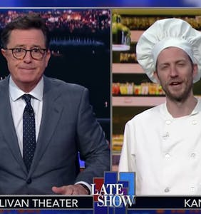 "Stephen Colbert rips into ""antigay baker"" who won't use ""LGBTQ"" lettering on his cakes"