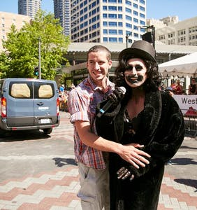 So the Babadook got engaged at Seattle Pride and there's video proof
