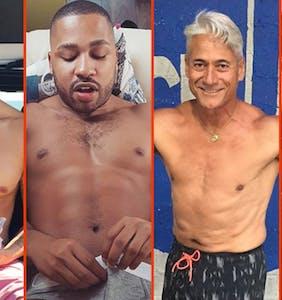 Ricky Martin's invisible ink, Simon Dunn's manspread, & Johnny Weir's beach briefs