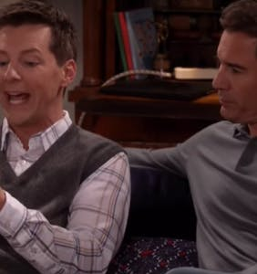 "New ""Will & Grace"" promo features Jack using Grindr, worrying about ""finger herpes"""