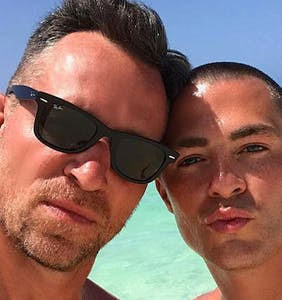 """Colton Haynes and husband Jeff Leatham go ahead and show you their """"full moons"""" on Instagram"""