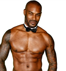 Tyson Beckford's Chippendales wardrobe malfunction leaves little to the imagination