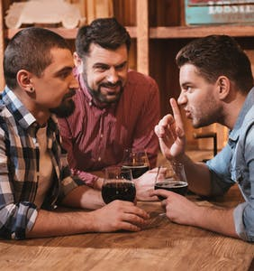 Best way to tell your wife you've hooked up with other guys? Married men swap war stories.