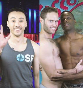 Watch this cute asian guy win the threesome of his dreams by testing his knowledge of STIs