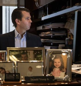 The objects on Donald Trump Jr's desk are hilarious
