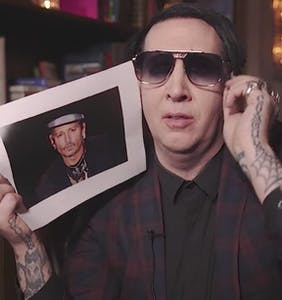 Marilyn Manson makes 3 gay jokes in 1 minute, and they're all pretty lame