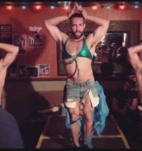 Three muscly guys lip sync to Britney Spears — and the crowd goes bananas