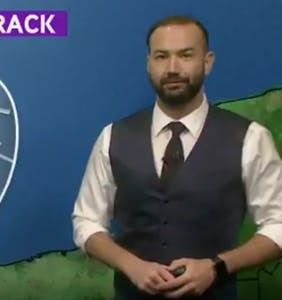 Weatherman can't help himself, gives drag queen hurricane forecast
