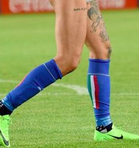 Italian footballer celebrates big win by ripping off his pants