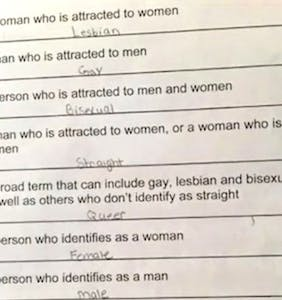 Mom furious over 6th grader's LGBTQ-themed vocabulary quiz