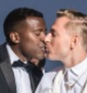 Gay military vet and Russian husband's Fire Island wedding photos will melt your heart