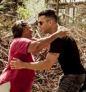 Ricky Martin shares intensely moving photos as he helps rebuild Puerto Rico