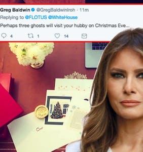 Melania Trump tweets her excitement for Christmas but Twitter isn't feeling her joy