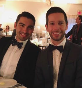 A botched photo of this gay couple at a wedding has delighted the Internet masses