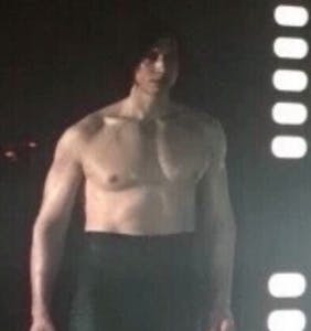 "Adam Driver knows exactly how you felt during his shirtless scene in ""The Last Jedi"""