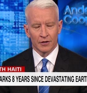 "Anderson Cooper fights back tears as he defends Haiti from Trump's unbelievable ""sh*thole"" comment"