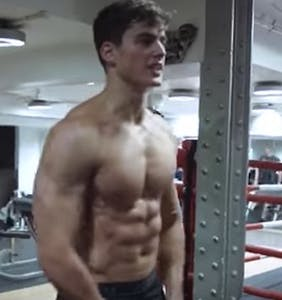 Pietro Boselli gives the people exactly what they want in sweaty new workout vid