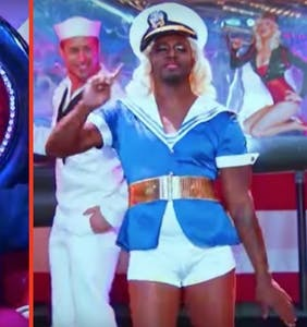 Taye Diggs stuns Christina Aguilera with this 'Candyman' drag number