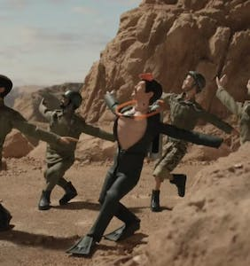 G.I. Joe becomes Army's gayest go-go boy in epic desert dance number