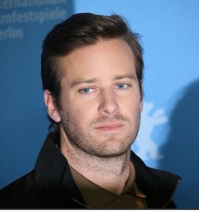 Armie Hammer struggles with something huge in the shower