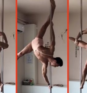 This insane pole-dancing routine will have you begging for more… culture.
