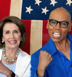 RuPaul picked the perfect week to team up with Nancy Pelosi and make the far left's heads explode