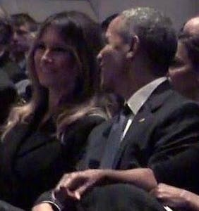 Melania Trump looked happy for a moment & Trump is probably pissed