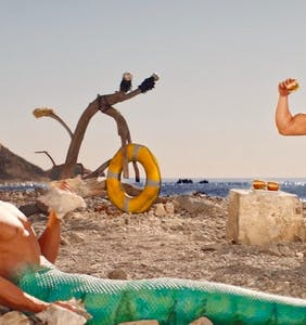 "Hot mermen want you to gobble up their ""easy protein"" in thirsty new seafood commercial"