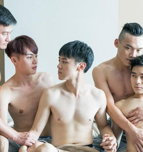This daring short film tackles gay orgies in underground hookup scene