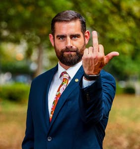 "Read the homophobic letter someone sent to ""the d*ck sucking f*ggot Brian Sims"""