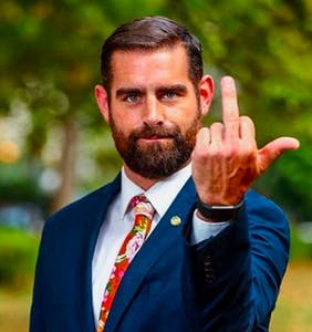Brian Sims welcomes Mike Pence to Philadelphia with a polite one finger salute