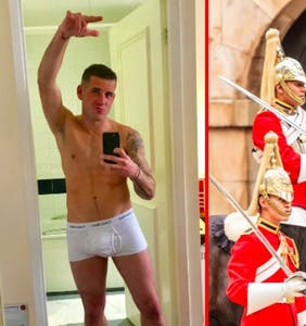 This royal horse cavalry guard also happens to be one of the Britain's busiest gay adult film actors