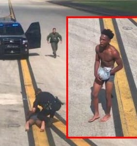 Passengers watch in horror as naked man charges tarmac, tries breaking onto aircraft from the wing
