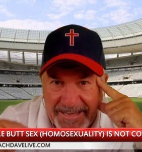 "This Christian extremist can't stop talking about ""male butt sex,"" compares it to Wendy's hamburgers"