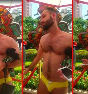 Can someone please school gay Speedo activist Chris Donohoe on white privilege?