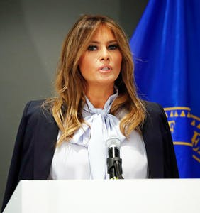 """Melania says grown-ups need to be less """"destructive"""" on social media and Twitter is like """"Girl, bye!"""""""
